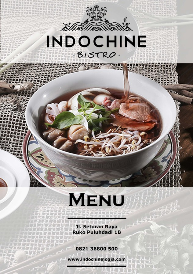 Indochine Menu